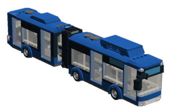 Articulated City bus