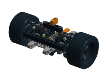 Driven front axle