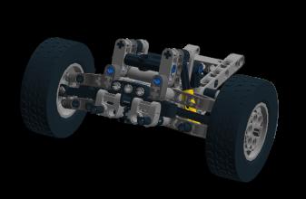 Front axle Positive caster bild